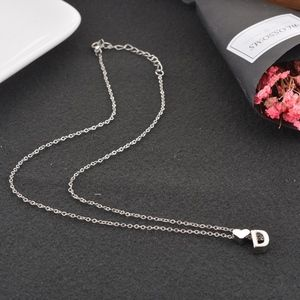 Jewelry - Silver Heart D Initial Charm Necklace